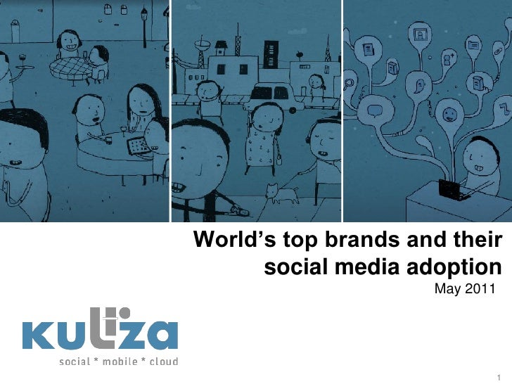 World's top brands and their      social media adoption                     May 2011                            1