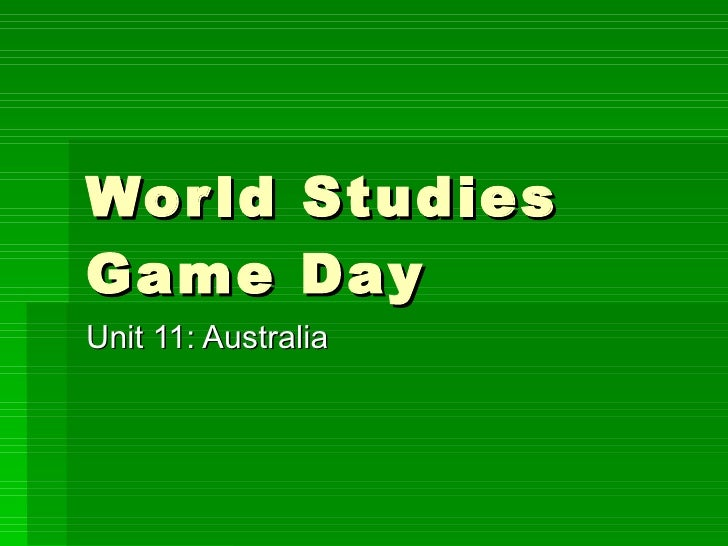 World Studies Unit 11 Game