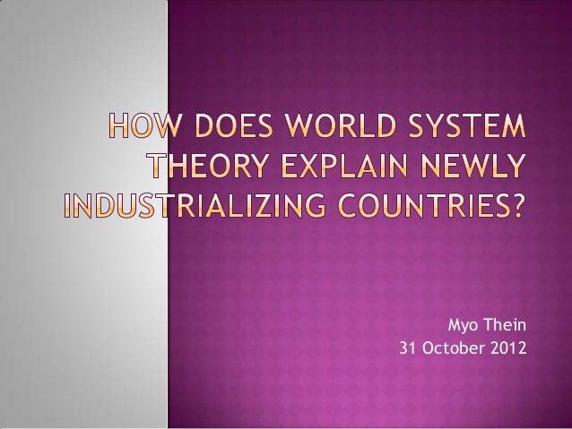 World System Theory & Burma