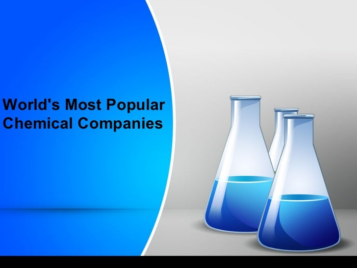 Worlds Most PopularChemical Companies