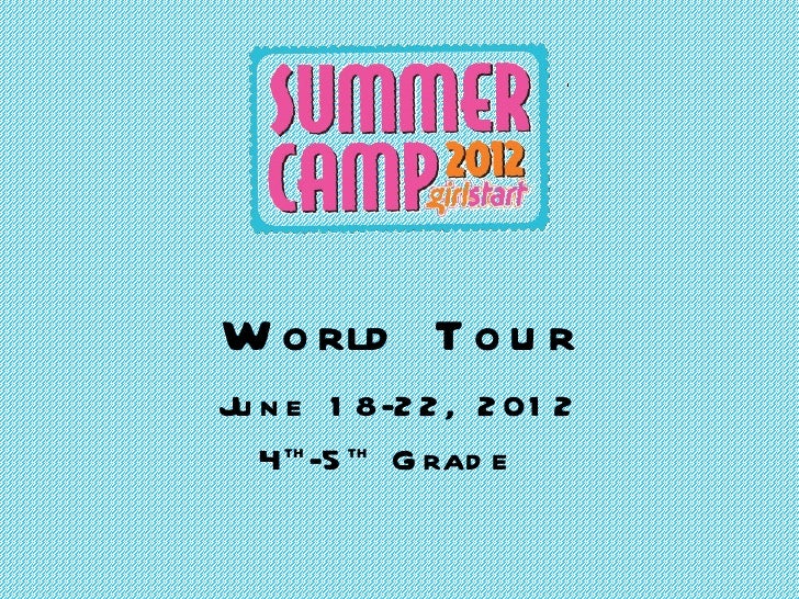 World Tour Week 2 4th&5th grade