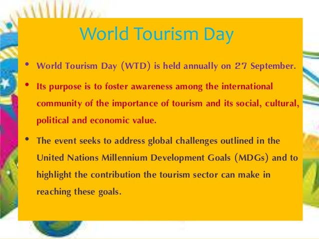 World Tourism Day 2014 Logo World Tourism Day World