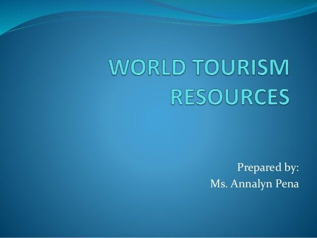 World tourism resources
