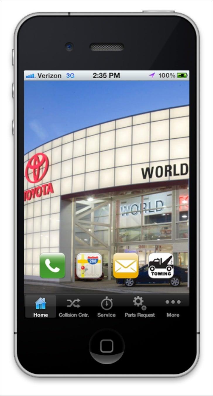 World Toyota iPhone Car Dealership App