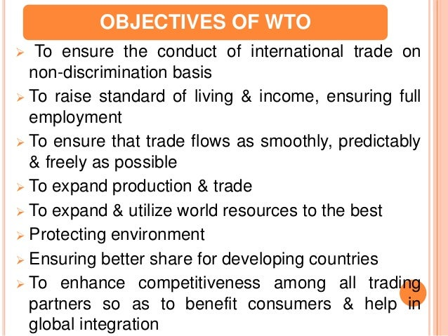 impact of world trade organization wto policies General agreement on tariffs and trade: of world trade dedicated to reducing trade barriers worldwide and establishing the world trade organization.