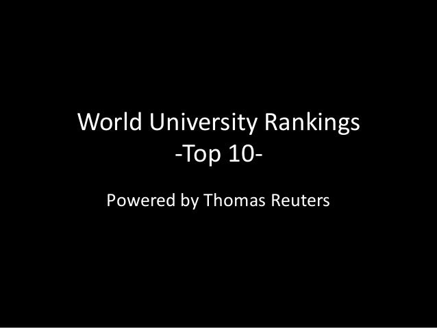World University Rankings-Top 10-Powered by Thomas Reuters