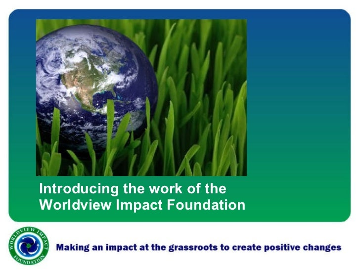 Introducing the work of the Worldview Impact Foundation
