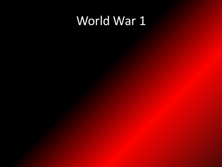 World War 1<br />