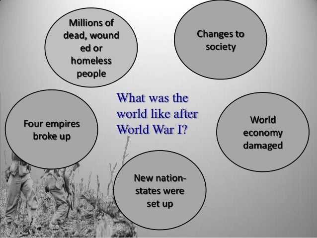 social political and economic effects of world war i Rockoff concludes that perhaps the greatest impact of world war i was a social pressure to war on the world view of new economic and political.