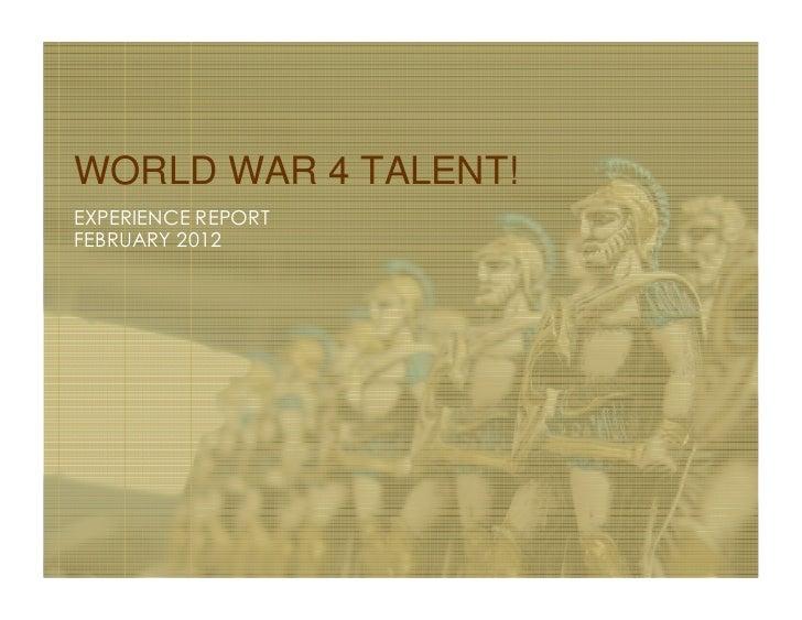 World War 4 Talent