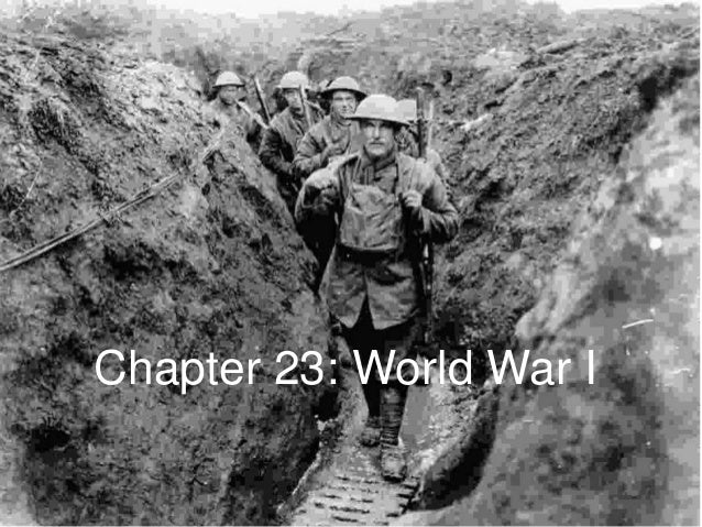 Chapter 23: World War I