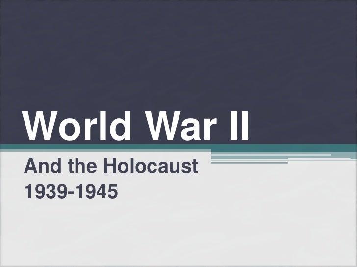 World War II - Part I