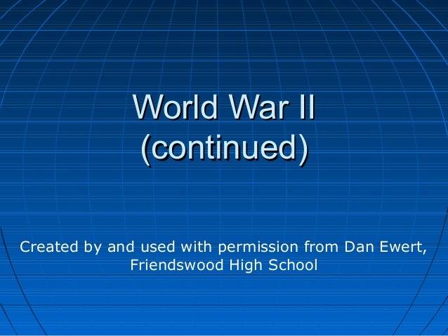 World war ii continued
