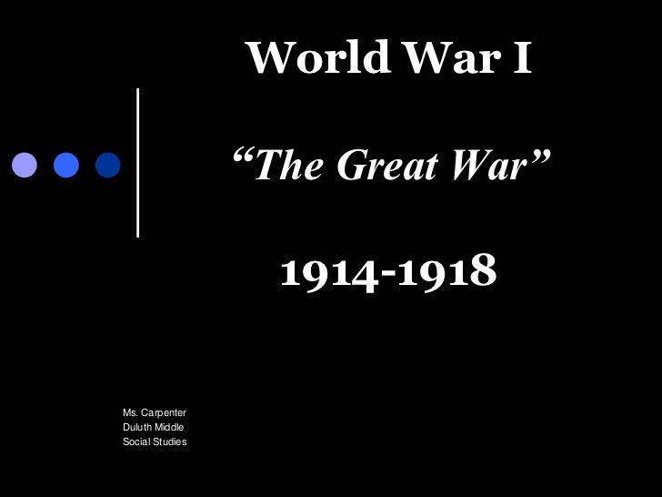 World war i ppt
