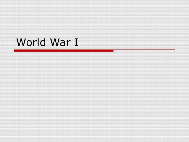 World War I terms