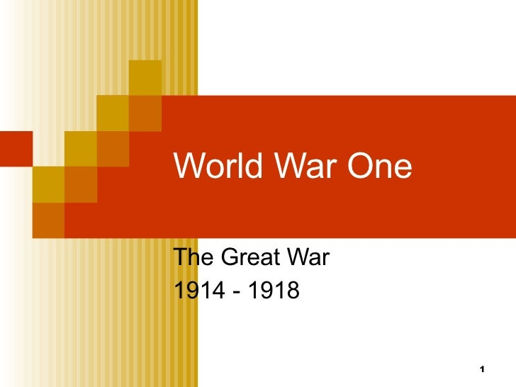 an overview of the report on world war one World war 1 was a military conflict lasting from 1914 to 1918 which involved nearly all the biggest powers of the world it involved two opposing alliances, the allies and the central powers the countries of the allies included russia, france, british empire, italy, united states, japan, romania, serbia, belgium, greece, portugal and montenegro although.