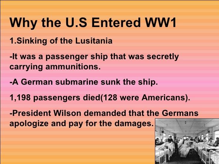 Who entered world war 1?