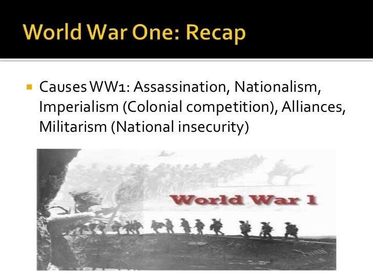World War One Ending World War One Recap
