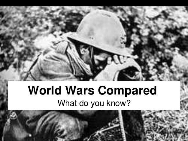 World wars compared