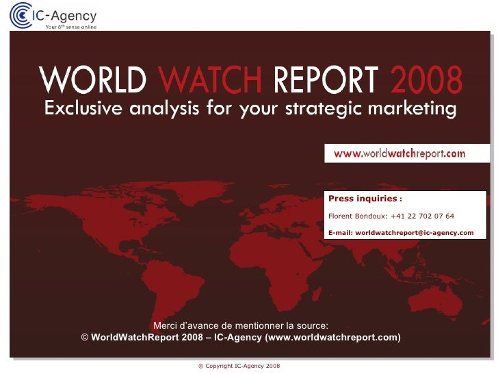 Analyse marketing stratégique pour les marques horlogères : WorldWatchReport 2008 (Media Kit - FR)