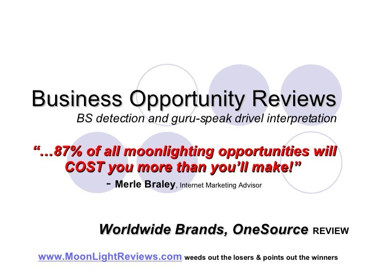 Worldwide Brands OneSource Wholesale Dropshipper Review