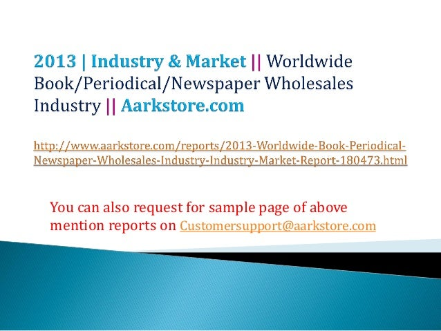 Worldwide book periodical-newspaper wholesales industry