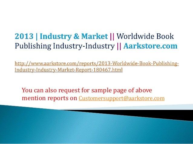 Worldwide book publishing industry industry