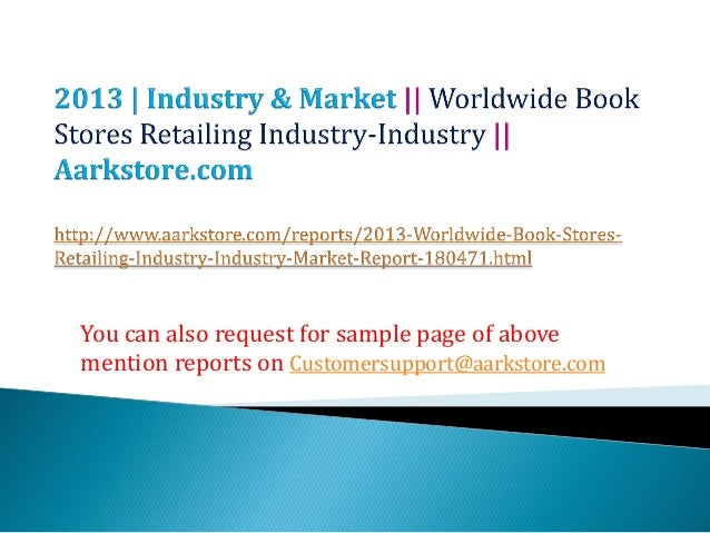 Worldwide book stores retailing industry industry