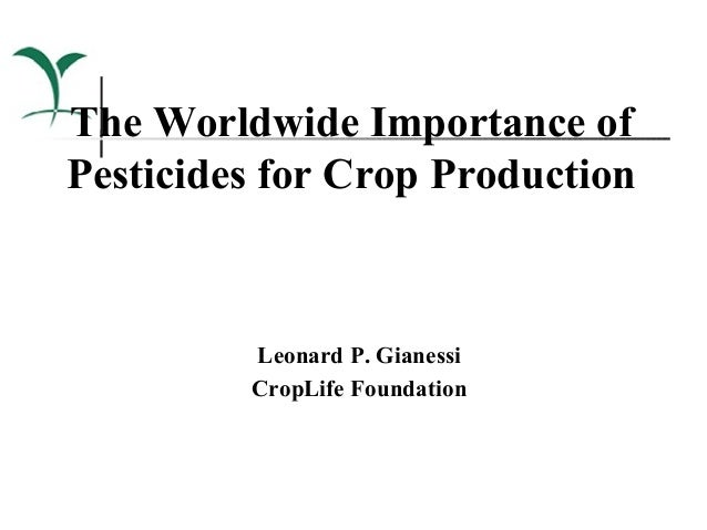 The Worldwide Importance ofPesticides for Crop Production         Leonard P. Gianessi         CropLife Foundation