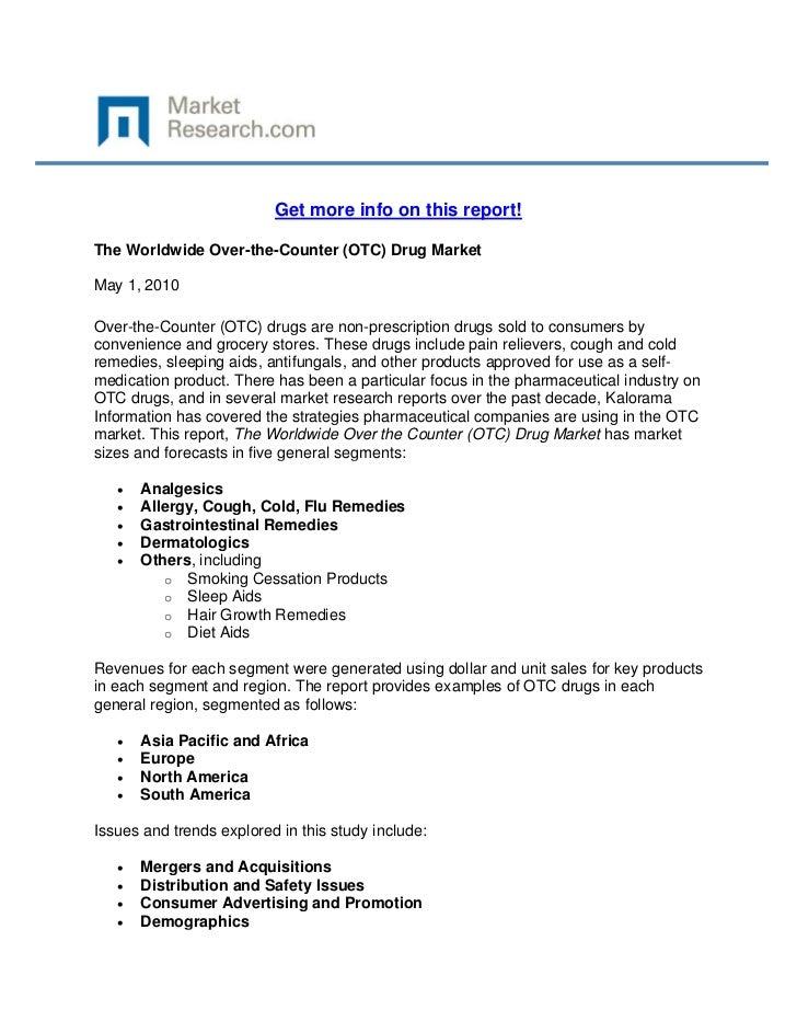 Worldwide Over-the-Counter (OTC) Drug Market, The