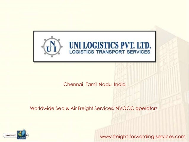 Worldwide sea & air freight services