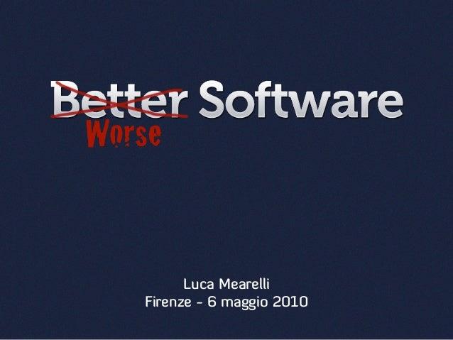 Luca Mearelli Firenze - 6 maggio 2010