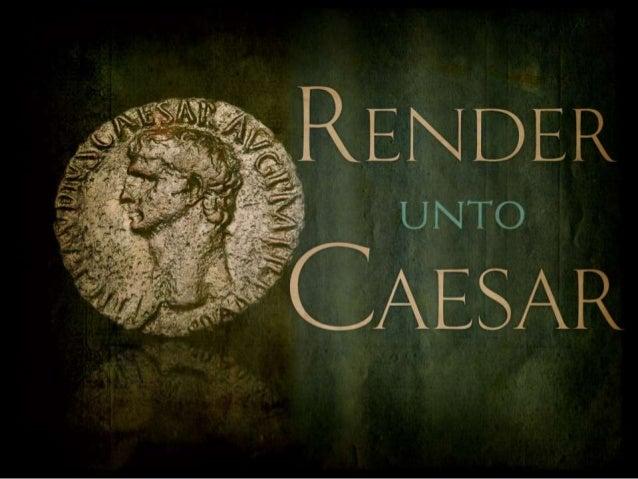 """""""Render–But Don't Surrender–unto Caesar"""" (Sermon on Matthew 22:15-22, by Pr. Charles Henrickson)"""