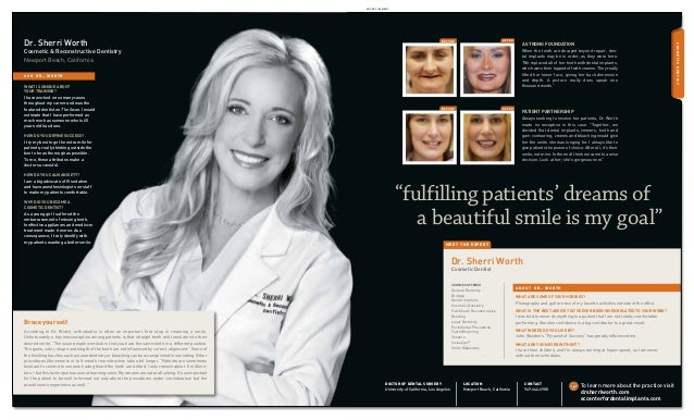 advertisement  after  before  Cosmetic & Reconstructive Dentistry Newport Beach, California  A strong foundation When the ...