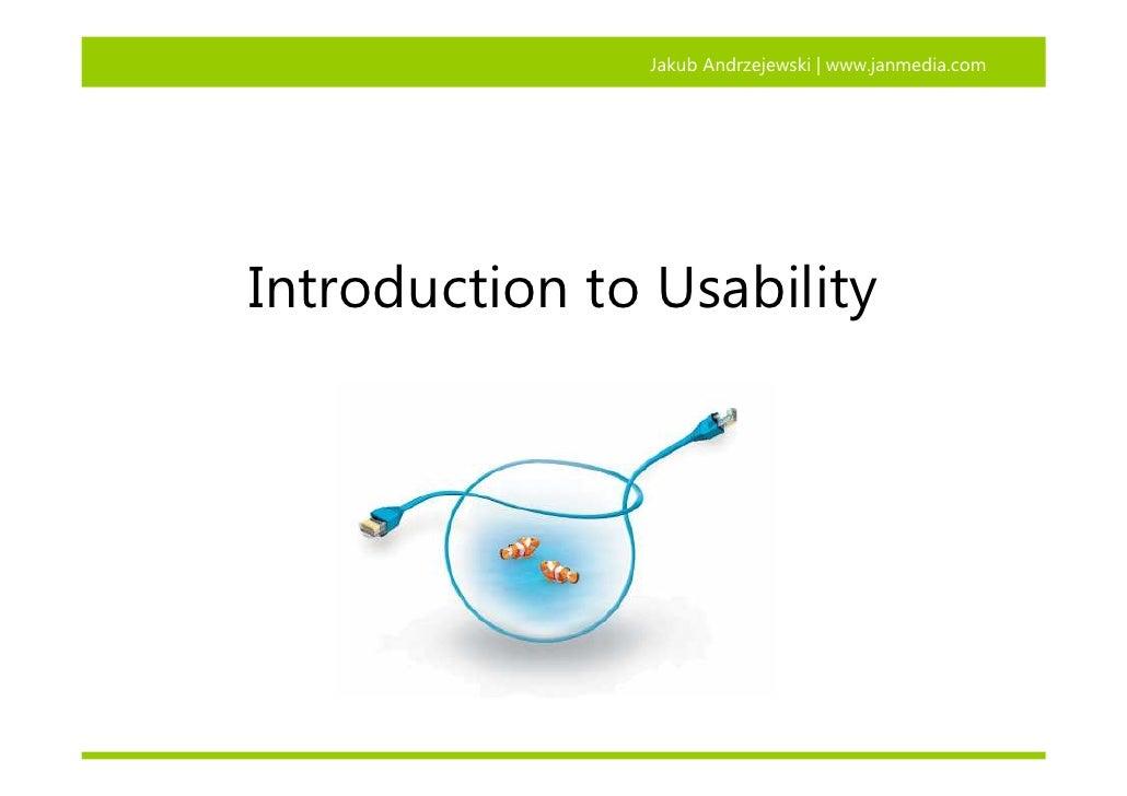 Wou Intro To Usability Jandrzejewski