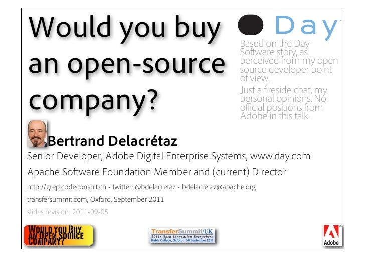 Would you buy an open source company?