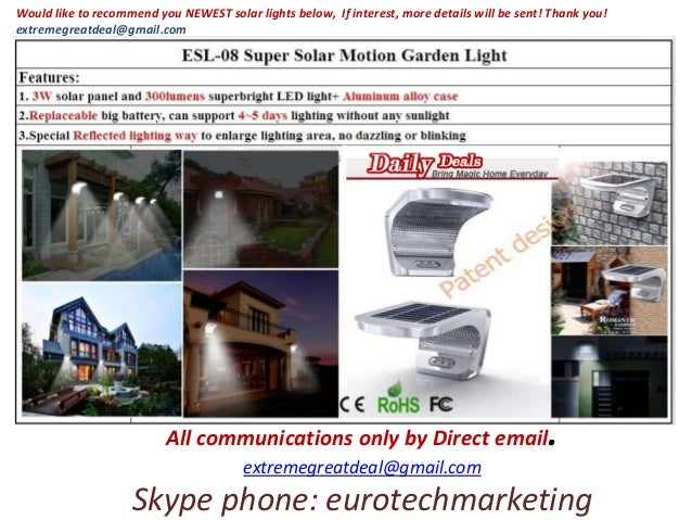 All communications only by Direct email. extremegreatdeal@gmail.com Skype phone: eurotechmarketing Would like to recommend...