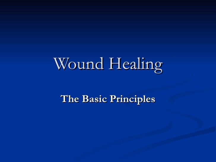 Wound Healing The Basic Principles