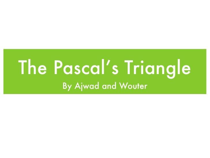 Pascal's Triangle slideshow