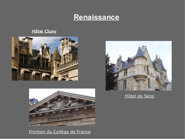 Renaissance Hôtel ClunyHôtel ClunyHôtel ClunyHôtel Cluny Fronton du Collège de France Hôtel de Sens