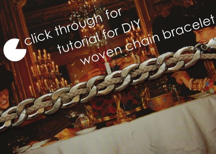 Woven chain bracelet   steps