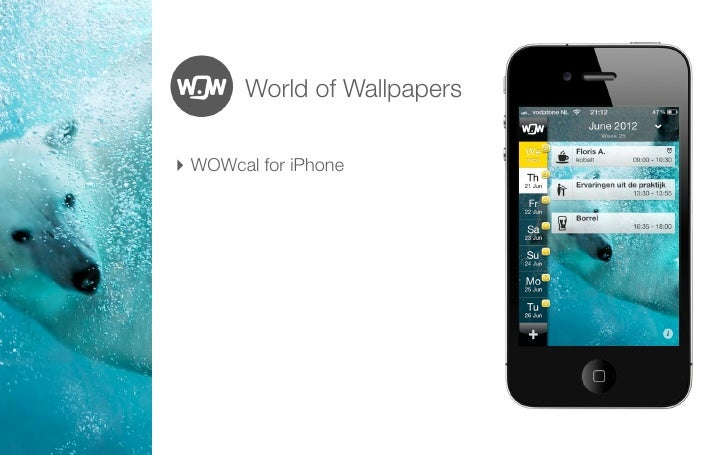 World of Wallpapers‣ WOWcal for iPhone