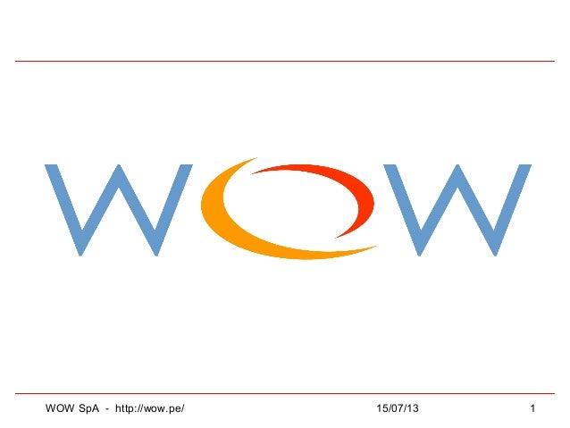 15/07/13WOW SpA - http://wow.pe/ 1