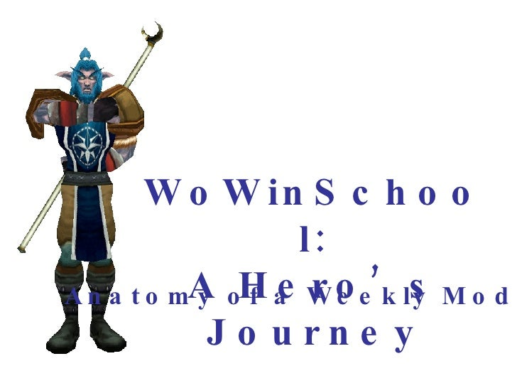 Anatomy of a Weekly Module WoWinSchool: A Hero's Journey