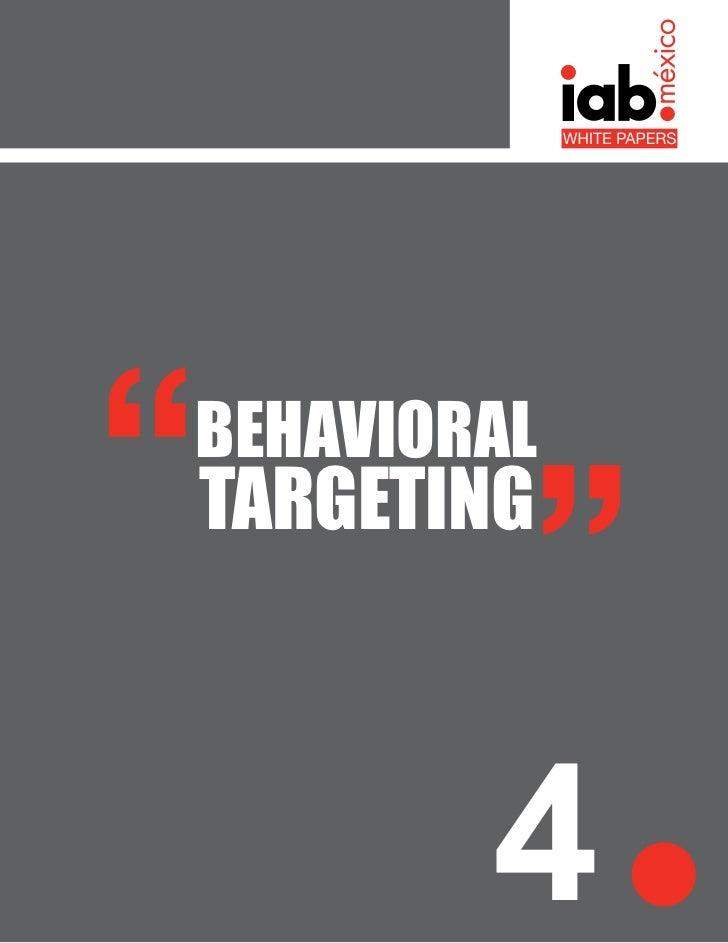 White Paper - Behavioral Targeting IAB México