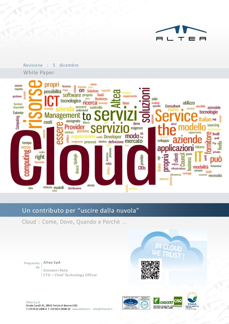 White Paper sul tema Cloud