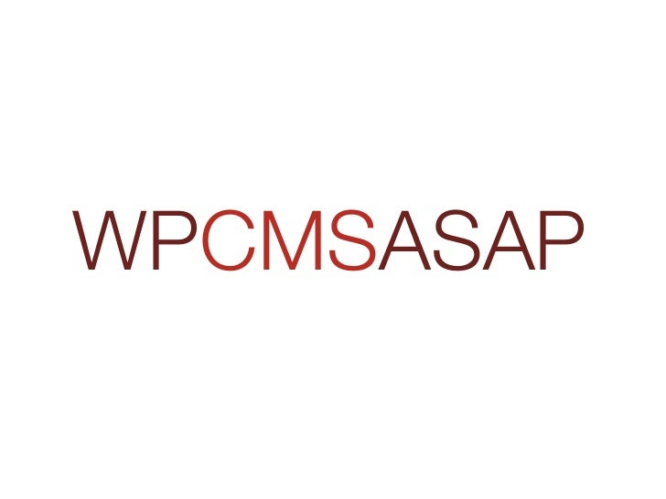 WPCMSASAP