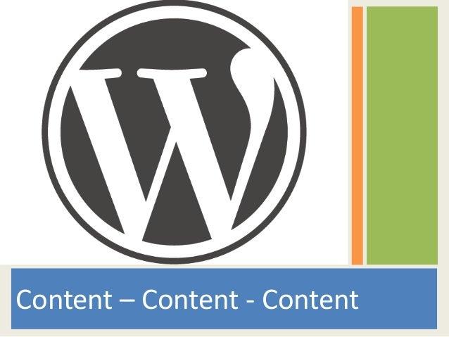 Content – Content - Content