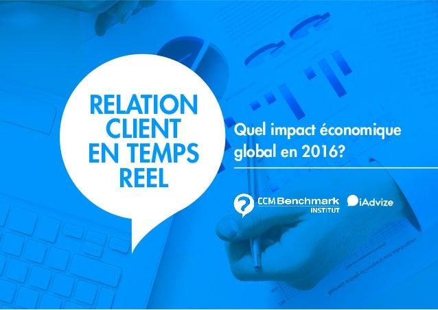 1 Quel impact économique global en 2016? RELATION CLIENT EN TEMPS REEL