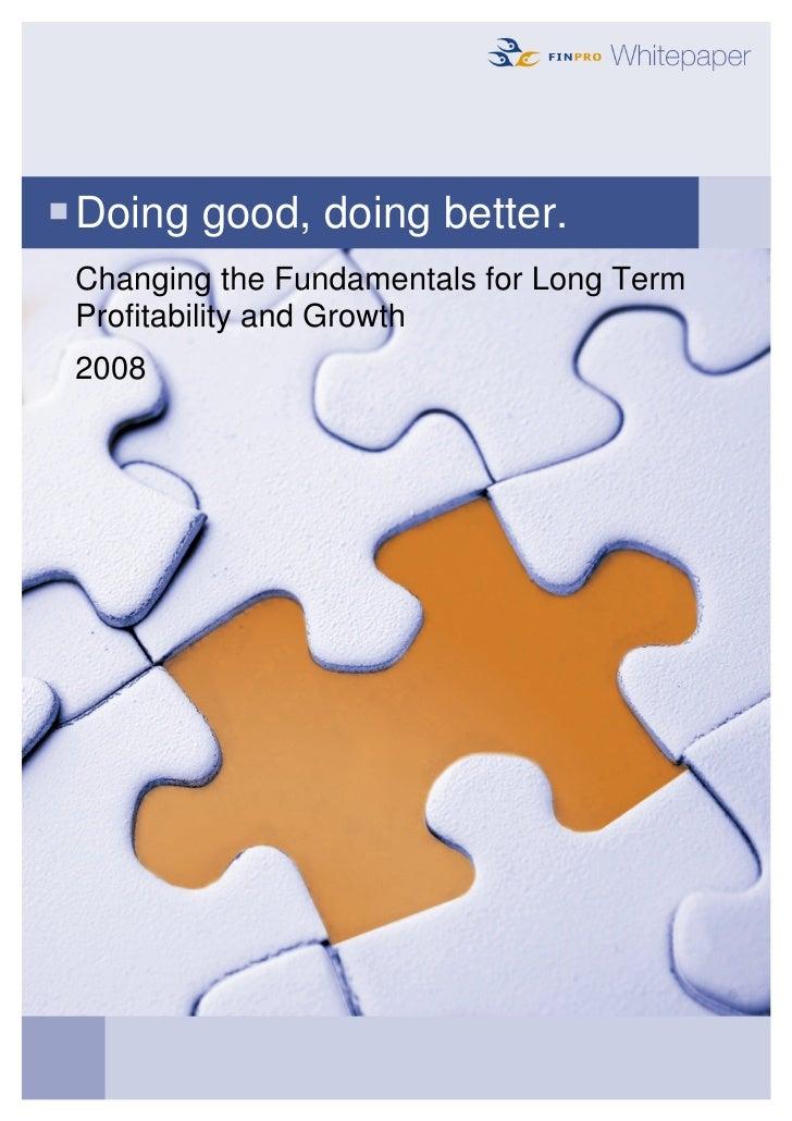 Doing Good Doing Better